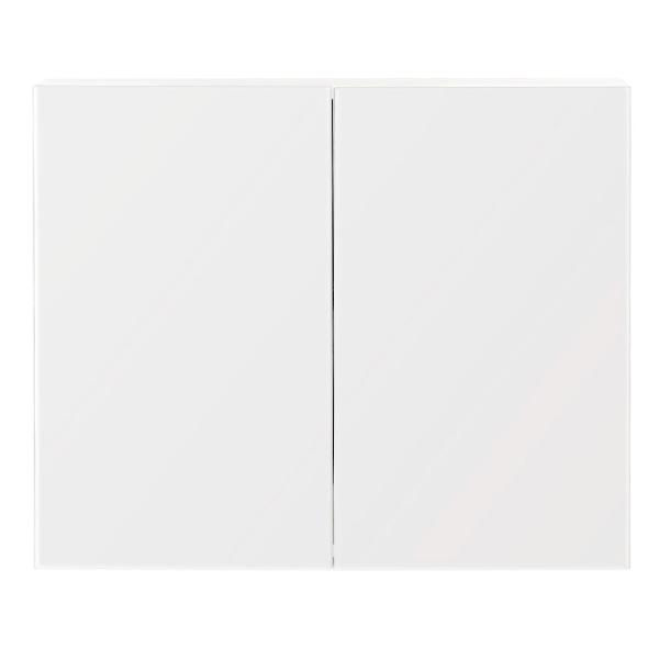 白色两门镜柜