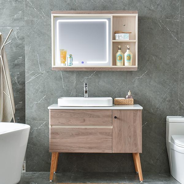 免漆实木浴室柜,洗面台,洗漱盆AM6047