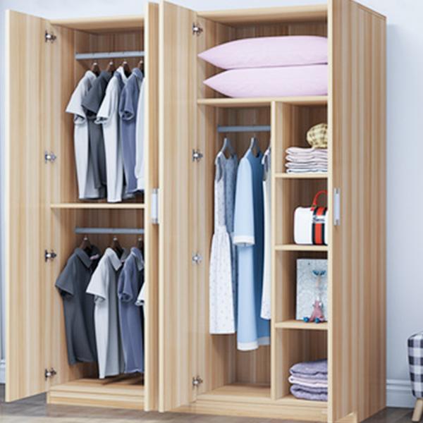 木材颜色的现代风格衣柜